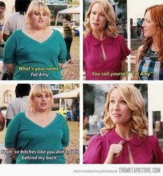 Pitch Perfect looks like such a good movie. God I cant wait to see rebel wilson in this (FAT AMY) Movie Tv, Funny Movies, Great Movies, Funny Movie Scenes, Funniest Movies, Amazing Movies, Iconic Movies, The Hit Girls, Pride And Prejudice