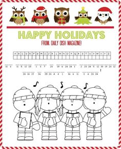 Keep the kids busy with FREE Christmas Puzzle Printables and Coloring Pages! Word Search, Maze, and Cryptogram plus Cute Coloring Graphics.