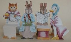 Beatrix Potter NURSERY SET of Chairs