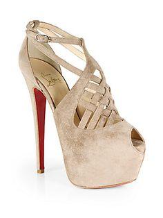 Christian Louboutin Carlota Suede Platform Sandals