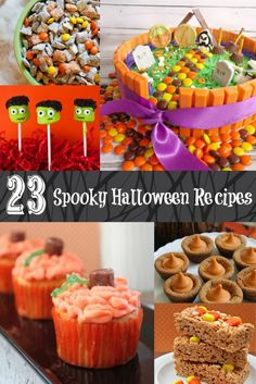 23 fun Halloween treat recipes. Perfect for a party or an after dinner treat!