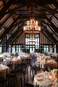 Stunning Chicago Wedding! Just look at those exposed beams above the wedding reception | By Erica Rose Photography