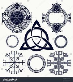 Celtic elements tattoo and t-shirt design. Helm of Awe aegishjalmur celtic tri - Knot T Shirt - Ideas of Knot T Shirt - Celtic elements tattoo and t-shirt design. Helm of Awe aegishjalmur celtic trinity knot tattoo. Trinity Knot Tattoo, Celtic Knot Tattoo, Celtic Trinity Knot, Celtic Tattoos, Viking Tattoos, Element Tattoo, Viking Tattoo Symbol, Norse Tattoo, Thai Tattoo