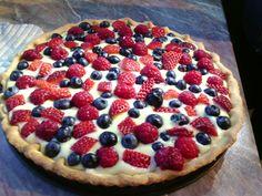 Tarta (Crostata) de frutos del bosque - Arándanos, frambuesas y fresas