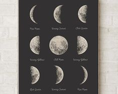 Moon Phases Poster - PRINTABLE FILE. Astronomy Lunar Art. Celestial Print. Bedroom Decor. Lunar Phases. Dorm Room Wall Art. Bohemian Art. Lunar Art. Celestial Print.  A great solution for last minute gifts!  This is INSTANT DOWNLOAD - a printable file.  Please note that NO physical items will be sent. The colour quality will vary depending on the type of printer and the paper you will use. ILKADesign is not responsible of the colour printed on the end product…