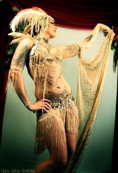 art deco and art nouveau woman belly dancing image - Bing Images Dance Gear, Tribal Belly Dance, Beautiful Costumes, Belly Dance Costumes, Tribal Fusion, Belly Dancers, Bohemian Gypsy, Showgirls, Model Photographers