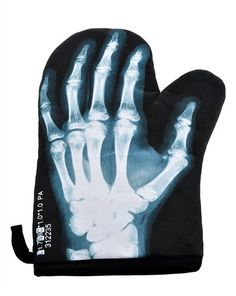 X-Ray Skeleton Oven Mitt Glove