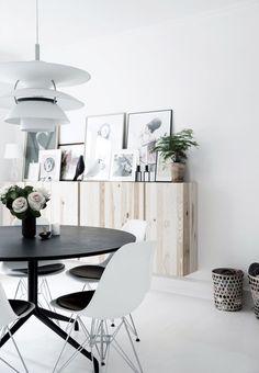 Ikea-skabe i lyst træ
