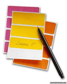 Bridal Shower Gift Labels During the excitement of a shower, it can be hard to keep track of who gave what. Have a helper write the givers' names on labels, and stick them on the box right after the bride has opened it. Before Wedding, Wedding Tips, Our Wedding, Dream Wedding, Wedding Stuff, Wedding Dreams, Wedding Binder, Bridal Tips, Wedding Hacks