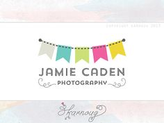 Custom, Premade, Bunting, Photography Boutique Logo Design on Etsy, $32.32 AUD