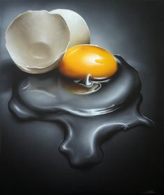 Egg Natural version III by URM on deviantART - Acrylic on Canvas