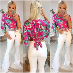 Modelos Fashion, Wide Leg Jeans, Bell Bottoms, Capri Pants, Women Wear, Fashion Outfits, My Style, How To Wear, Clothes