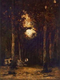 Paál László - Erdő belseje (1877) Romance, Landscape, Painting, Romance Film, Romances, Painting Art, Paintings, Landscaping, Drawings