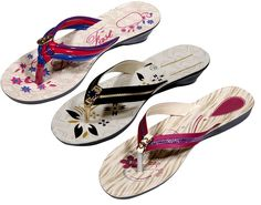 Indistar Women's Nylon Flip Flop (Pack Of 3 Pair) *** Visit the image link more details.
