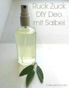 DIY summer cosmetics: quick sage deodorant- DIY Sommer Kosmetik: Ruck Zuck Salbei Deo Make natural cosmetics yourself Green cosmetics Herbal hike Cooking class Forest bathing Soap boiling Team building nature education - Diy Deodorant, Natural Deodorant, Salvia, Make Natural, Belleza Diy, Diy Beauté, Homemade Cosmetics, Night Makeup, Natural Cosmetics