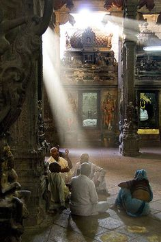 Sitting in an ancient Hindu Temple, India ॐ Hindu architecture 卐