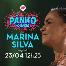 """Daqui a pouco Marina ao vivo no """"Pânico no Rádio"""", às 12h25, para conversar sobre o Brasil e as ideias da nossa pré-candidatura à presidência."""