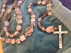 RuGGeD MeNs RoSaRy/ HoLY SPiRiT/ Gemstone Rosary/ by Ivanwerks, $60.00