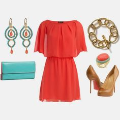 Spring Outfit... Love the colors! Especially the earrings!!