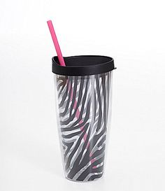 Formation Black Zebra Hot/Cold Tumbler with Lid and Straw