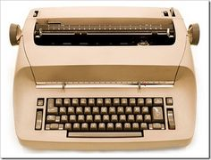 Digital photograph of an electric typewriter. IBM Selectric typewriters were commonly used in offices during the before personal computers became ubiquitous office fixtures. Those Were The Days, The Good Old Days, Sweet Memories, Childhood Memories, Ibm Typewriter, Objets Antiques, Learn To Type, Nostalgia, Retro Logos