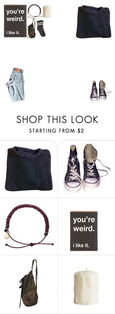 """""""   sweater weather"""" by whovian-10th ❤ liked on Polyvore featuring American Apparel, Converse, Pura Vida and Forever 21"""
