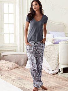 The Mayfair Tee-jama - Black Pearl Long Lg Loungewear Outfits, Sleepwear & Loungewear, Sleepwear Women, Pajamas Women, Nightwear, Lingerie Sleepwear, Cute Pajama Sets, Cute Pjs, Cute Pajamas