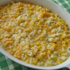 """I call this Christmas Hominy because, for some reason, I only make it during the Christmas season - for potlucks at work or for our Christmas Eve buffet. Yummy, cheesy, always gets rave reviews! Even folks who say, """"I hate hominy!"""" love this dish."""