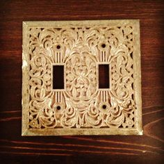 antique vintage shabby chic light switch cover