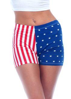 American Flag Spandex Shorts