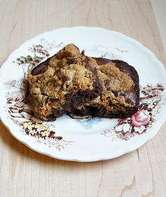Chocolate Chip Cookie Topped Brownies