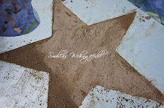 Sterne aus Beton selber giessen DIY concrete stars