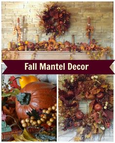 Fall Mantel Decor - Adding the Colors of the Season