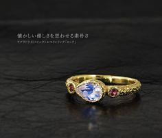 """Labradorite × pink tourmaline ring """"Rock"""" ラブラドライト×ピンクトルマリンリング「ロック」"""