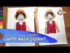 LUFFY Nasıl Çizilir? | Adım Adım Nasıl Çizilir | Ucu ucuna - YouTube Baseball Cards, Drawings, Sports, Youtube, Hs Sports, Sketches, Drawing, Sport, Portrait