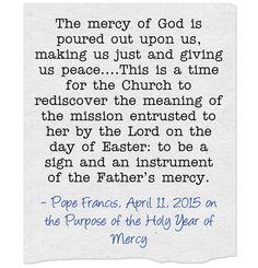 Pope Francis Proclaiming the Holy Year of Mercy