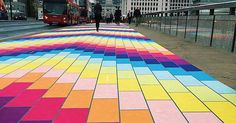 London Bridge was turned into a giant rainbow for one day only on Monday with a new art installation.