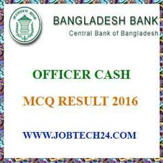 Bangladesh Bank Officer Cash Result 2016