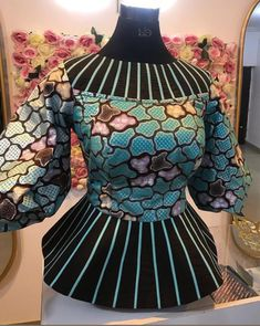 African Blouses, Latest African Fashion Dresses, African Dresses For Women, African Wear, African Attire, African Tops, African Style, African Print Clothing, African Print Fashion