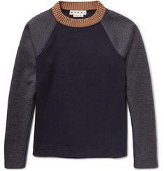 MarniColour-Block Double-Faced Virgin Wool-Blend Sweatshirt