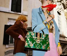 For spring 2017, Gucci travels to Rome for a colorful campaign with a few surprising stars.