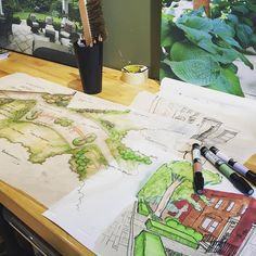 """When we say """"design build manage"""" we mean it.  Our three Landscape Architects have been very busy this #spring designing beautiful #outdoor #gardens.  #landscape #design"""