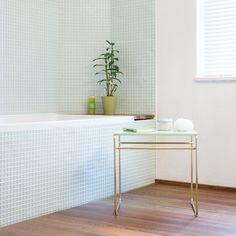 Tilda side table by Nina Mair, photo: Peter Philipp Magazine Design, Entryway Tables, Architecture Design, Furniture Design, Mint, Interior Design, Bathrooms, Toilets, Austria