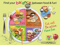 Find your balance between food and fun - Kids MyPlate Poster