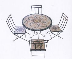 Outdoor mozaïek tafelbladen, verwijderbare restaurant tafelbladen, mozaïek tegel…