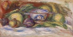 Bowl, Figs, and Apples (Écuelle, figues et pommes) - Pierre-Auguste Renoir. 1916 Barnes Foundation, Philadelphia PA #vanGogh #barnesmuseum