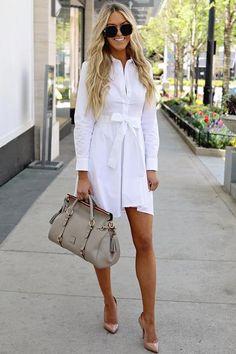 White Dress Women Bandage Shirt Casual Dress Summer Party Dress Robe Femme Long Sleeve Vestidos Color White Size S Elegant Party Dresses, Sexy Dresses, Casual Dresses, Dress Outfits, Mini Dresses, Trendy Dresses, Casual Outfits, Fashion Outfits, Womens Fashion