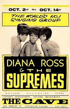 Diana Ross & The Supremes Canadian concert poster