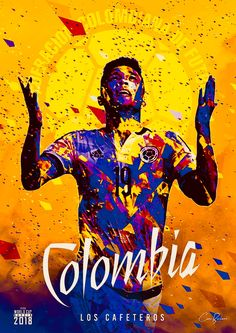 Colombia : Los Cafeteros = The Coffee Growers! Fifa Teams, Soccer Fifa, Youth Soccer, Football Images, Football Art, National Football Teams, World Cup 2018 Teams, Fifa World Cup, James Rodriguez