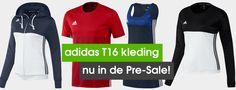 De adidas T16 kledinglijn staat eindelijk online. Zorg dat je hem als eerste in huis hebt! #adidasHockey #T16